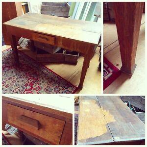 Vintage Solid Oak Desk Single Drawer Restoration Project Truro Mid Murray Preview