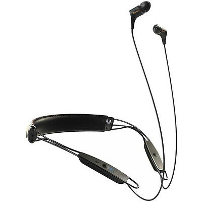 Klipsch R6 Neckband Earbuds Bluetooth Headphone - Black Leather - 1062796