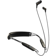 Klipsch R6 Neckband Earbuds with Bluetooth - Black Leather - 1062796