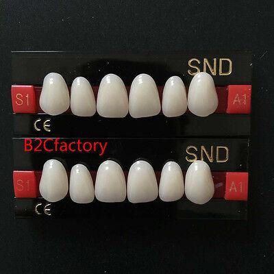 2sets A1-s1 Dental False Denture Upper Anterior Acrylic Teeth Synthetic Resin