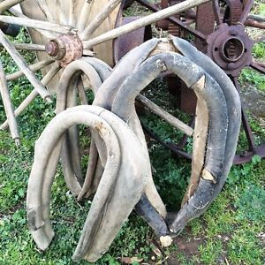 Rustic Farm Heritage Antique Horse Collars Wagon Wheels Truro Mid Murray Preview
