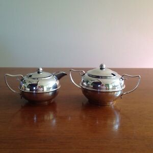 Vintage silver plated Perfection brand creamer milk jug and sugar bowl Summer Hill Ashfield Area Preview