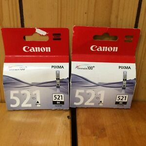Genuine CANON 521 Black INK CARTRIDGES X 2 Cloverdale Belmont Area Preview
