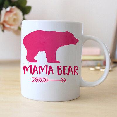 Mama Bear Pink Coffee Mug / Pink Watercolor Mama Bear - 11oz & 15oz Coffee Mug ()