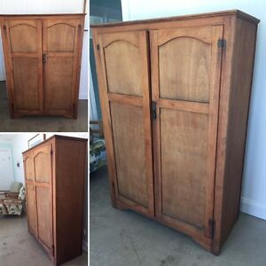 Antique Wooden Armoire Cupboard Burleigh Waters Gold Coast South Preview