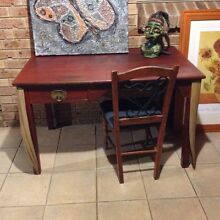 of a kind refurbished solid wood desk & chair furniture Karnup Rockingham Area Preview