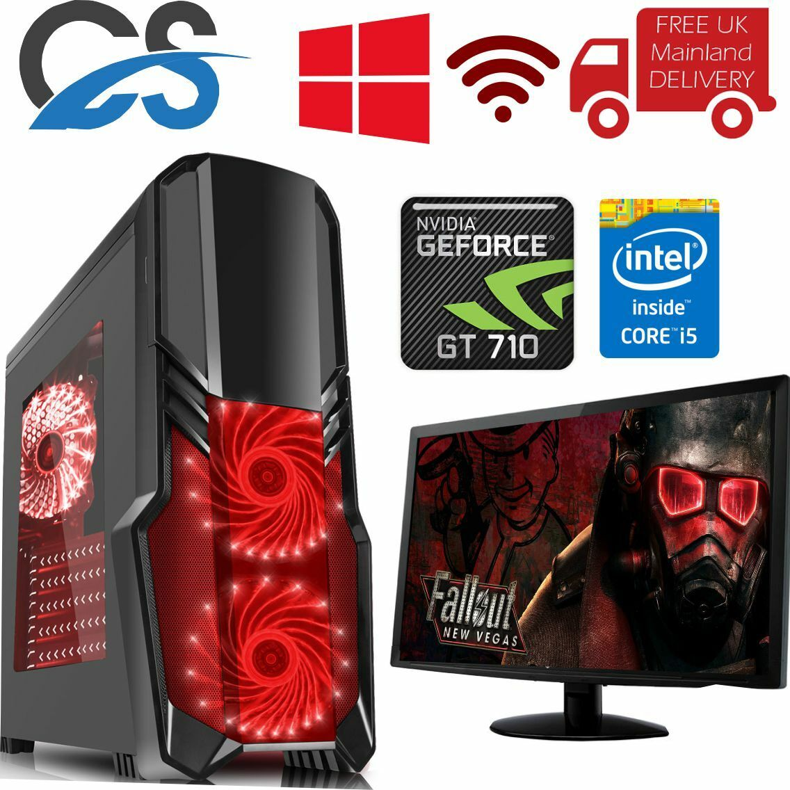 Computer Games - ULTRA FAST Gaming PC Computer Quad Core i5 1TB 16GB Windows 10 Desktop 2GB GT710