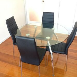 glass dining table in melbourne region vic dining tables gumtree