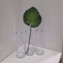 Milk Bottle Vases Clear Glass X 3 Frenchs Forest Warringah Area Preview