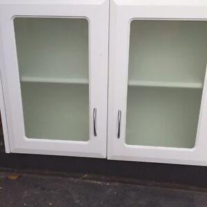 Wall cabinet glass doors Panania Bankstown Area Preview