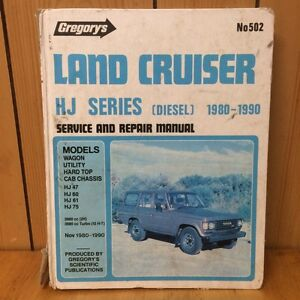 GREGORY'S Land Cruiser HJ Series******1990 SERVICE REPAIR MANUAL #502 Cloverdale Belmont Area Preview