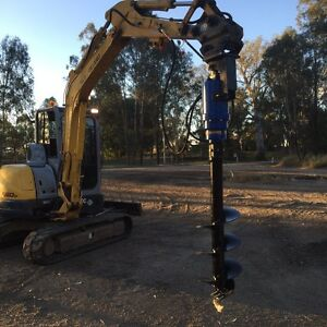 Auger/rock breaker/anything excavating for hire Logan Village Logan Area Preview