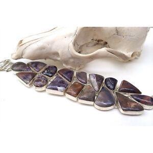 NEW Huge Raw Purple Amethyst Gemstone Sterling Silver Bracelet RRP$650 North Melbourne Melbourne City Preview