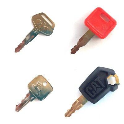 Heavy Equipment Ignition Key Set - 4 Keys Cat John Deere Komatsu