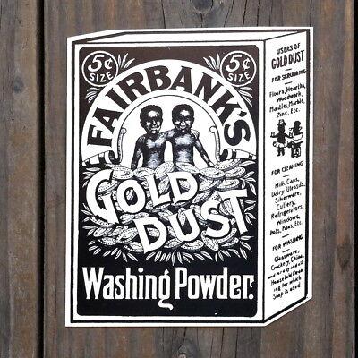 Original FAIRBANK'S GOLD DUST WASHING POWDER Hanging Cardboard Sign 1980s