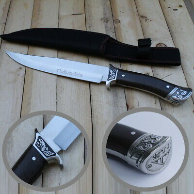 Jagdmesser Messer Outdoor Edelstahl Rostfrei Bowie Camping Angeln Knif Columbia