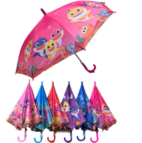 Baby Shark Kids Umbrella Lightweight Rain Beach Sun Picnic Portable Paraguas