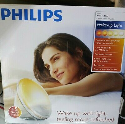 Philips SmartSleep Wake-Up Light Therapy Alarm Clock Natural Sounds FM Radio