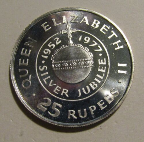 Seychelles 1977 25 Rupees Silver unc Coin