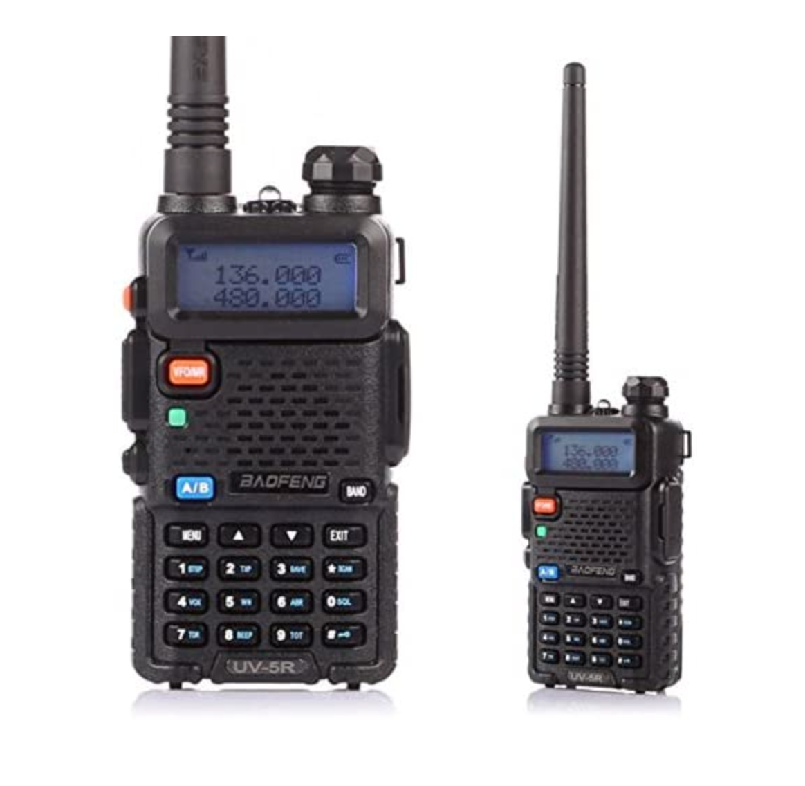 Two Way Radio Scanner Police Handheld Transceiver VHF UHF Po