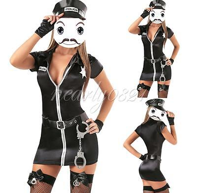 Sexy Women Police Cop Uniform Officer Costume Lady Halloween Fancy Dress Outfits](Fashion Police Halloween Costume)
