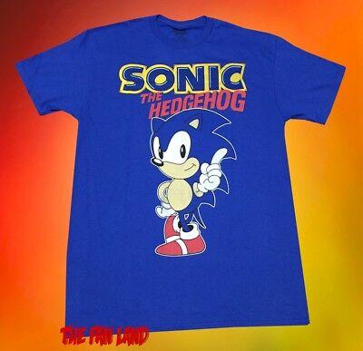 New Sonic the Hedgehog Sega Vintage 1991 Video Game Mens (Vintage Video Game T-shirts)