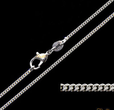 2MM SOLID 925  STERLING SILVER CURB CHAIN  NECKLACE  18""