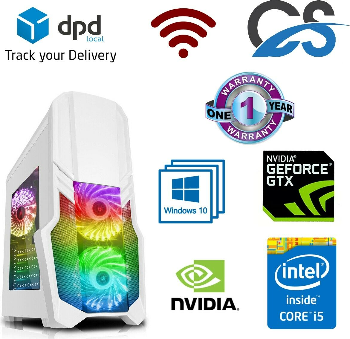 Computer Games - Gaming PC Intel Core i5 4440 Computer SSD HDD 16GB RAM GT GTX Windows 10 WiFi
