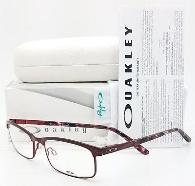 NEW Oakley Taxed RX Prescription Eyeglasses Frame Cabernet OX3182-0349 49mm (Oakley Womens Prescription Glasses)
