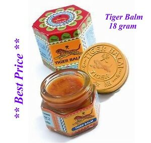 RED TIGER BALM HERBAL RELIEF FROM ACHES AND PAIN 21ML UK SELLER Fast Shipping