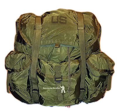 Alice Large LC-1 Back Pack US Army OD/WOODLAND COMPLETE w/ FRAME & STRAPS VG