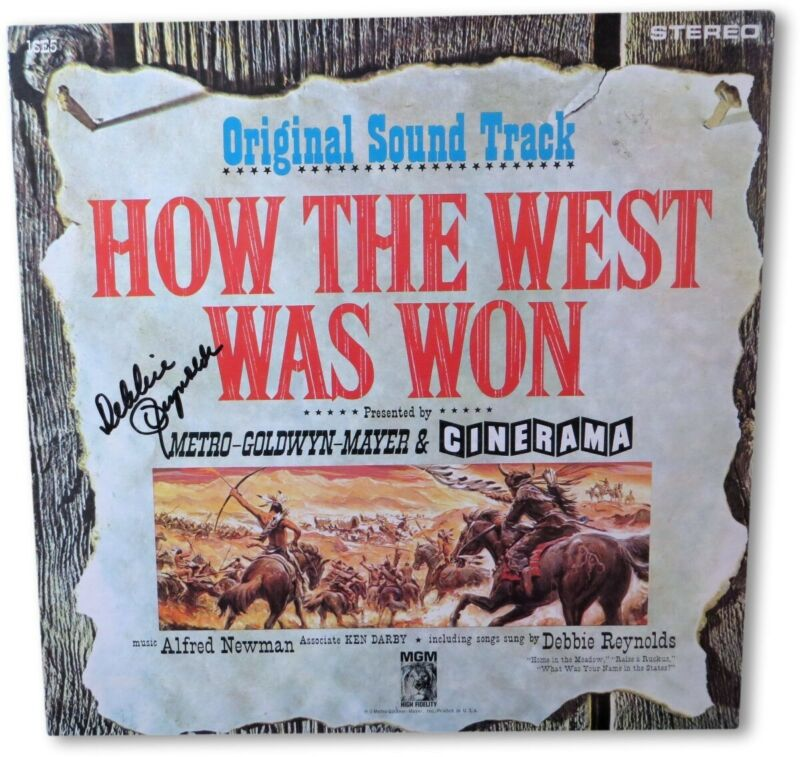 Debbie Reynolds Signed Autographed Record Album How the West was Won JSA II23285