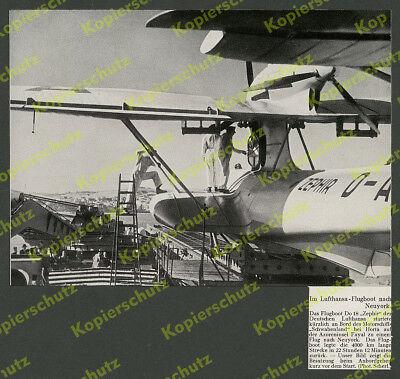 Lufthansa Besatzung Flugboot Dornier Do 18 D-ARUN Zephir Schwabenland Horta 1936
