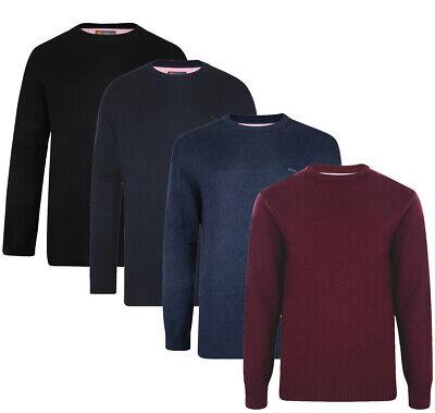 Mens KAM Plain Crew Neck Sweater Jumper Long Sleeve Top Big Size Casual 2XL-6XL