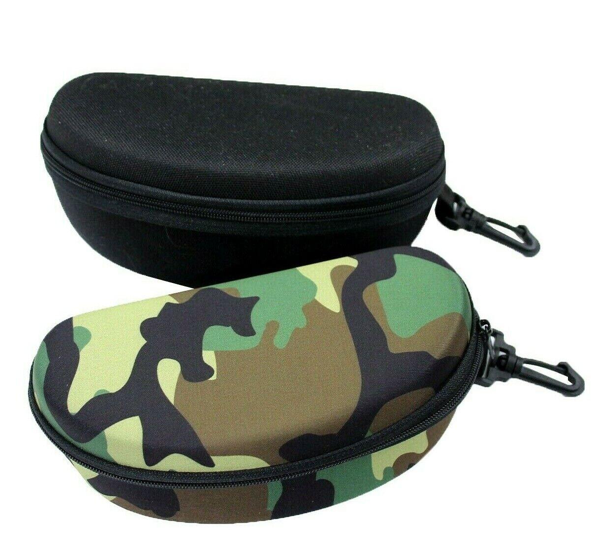XXL Outdoor Brillenetui für Sonnenbrille Sportbrille Reißverschluss Karabiner