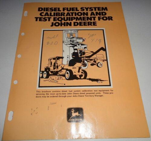 John Deere Diesel Fuel System Calibration & Test Equipment Sales Brochure (1973)
