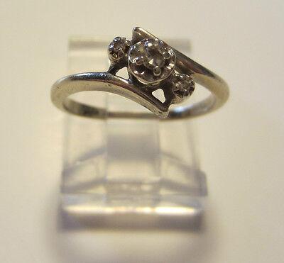 14k Yellow Gold Natural Diamond Engagement Ring Size 4.5