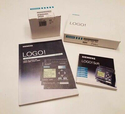 (Unused)Siemens LOGO! 24R 6ED1 052-1HA00-0BA0,PC-Cable,Handbuch,Software Disc1/2