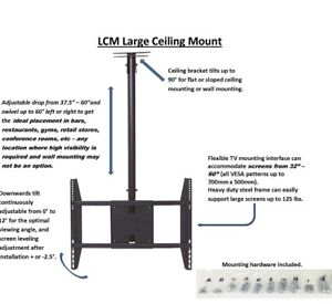 ROLECO Large TV Ceiling/Wall Mount