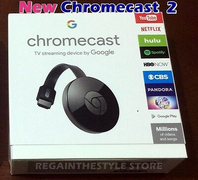 Google Chromecast 2 Digital Hdmi Media Streamer Genuine    Free Usa Shipping