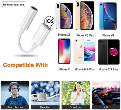 Lightning to 3.5mm Headphone Jack Adapter For iPhone 8 7 Plus XR X XS Max 11 Pro