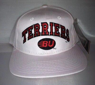 Vtg Boston University BU Terriers Snapback hat cap rare 90s NCAA College NWT new ()