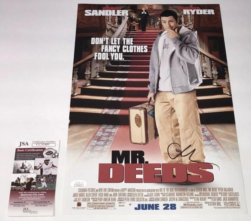 Adam Sandler Signed MR. DEEDS 11x17 Photo IN PERSON Autograph JSA COA