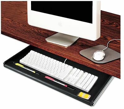 Innovera Standard Underdesk Keyboard Drawer Black High-impact Plastic Tray