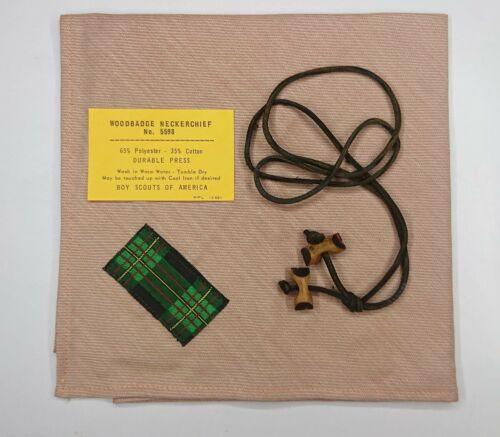 BSA Boy Scout Gilwell Tartan Woodbadge Neckerchief Leader 2 beads