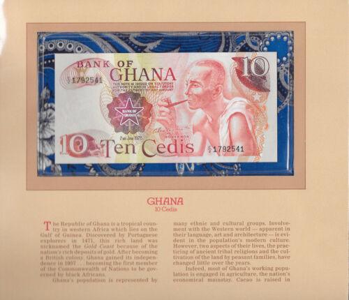 Most Treasured Banknotes Ghana 1978 10 Cedis P16f UNC Prefix C/2