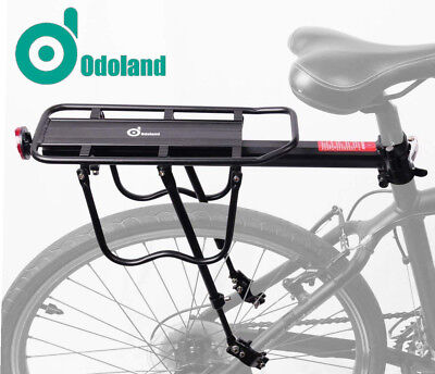 Rear Bike Rack Bicycle Cargo Rack Quick Release Alloy Carrier 110 Lb Capacity