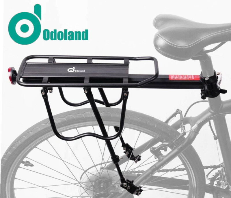 110 Lbs Capacity Adjustable Bike Luggage Cargo Rack Bicycle Accessories Carrier