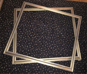 Gilt picture frames x2