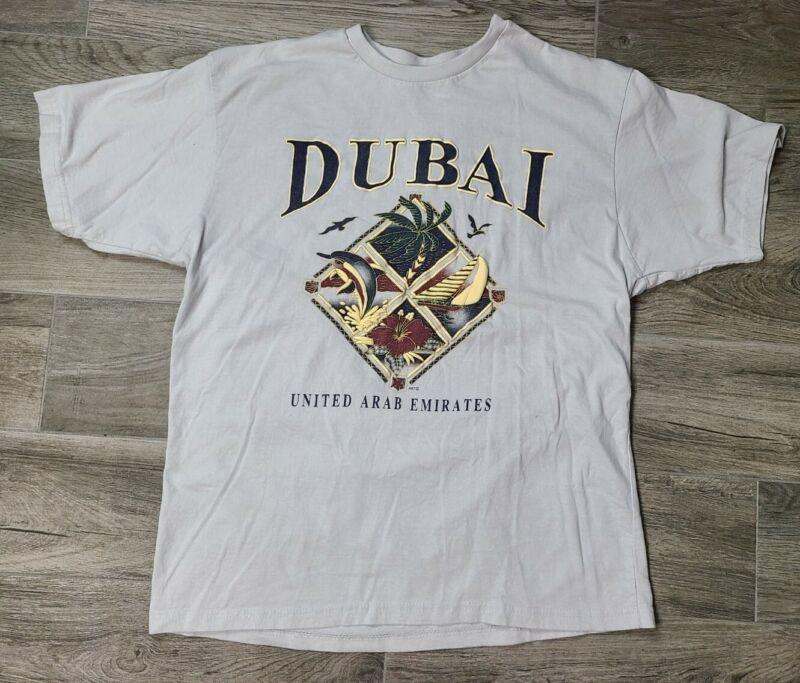 Vintage Dubai United Arab Emirates Shirt Tourist Souvenir L/XL